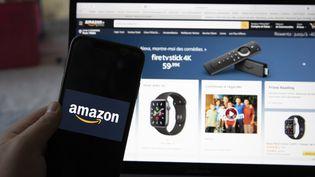 La page d'accueil du site de vente en ligne Amazon, ici à Paris le 15 septembre 2020. (ANTOINE WDO / HANS LUCAS / AFP)
