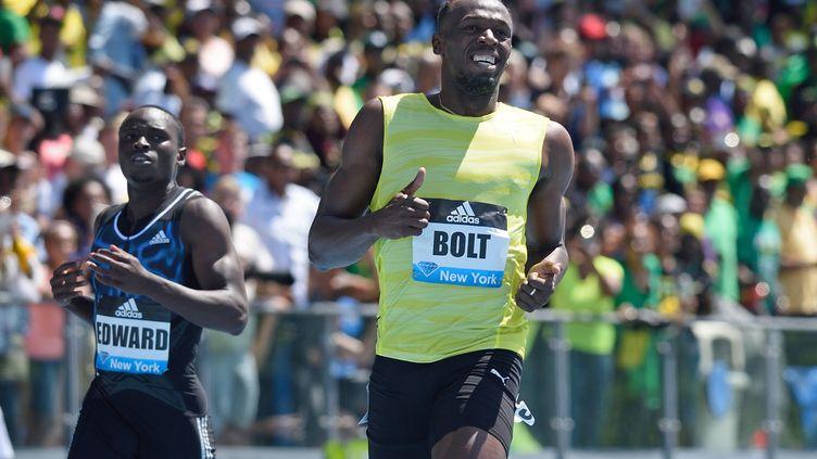 Usain Bolt avait déclaré forfait pour les meetings de Paris et de Lausanne. (DON EMMERT / AFP)