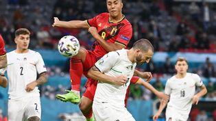 Euro de football, quart de finale. Match entre la Belgique et l'Italie, vendredi 2 juillet 2021. L'italie accède en demi-finale après un score de 2-1 contre les Belges. (Illustration) (FEDERICO GAMBARINI / PICTURE ALLIANCE / DPPI VIA AFP)