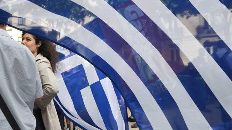 (Rassemblement de solidarité avec le peuple grec, le 31 juin 2011, après le vote d'un nouveau plan de rigueur en Grèce et contre les politiques d'austérité en Europe  © Maxppp)