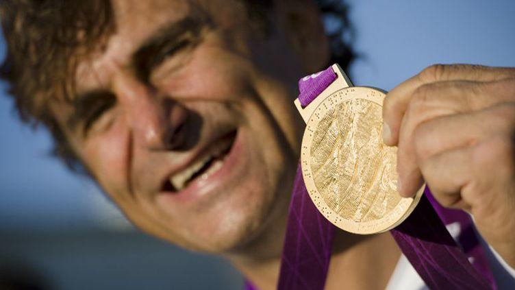 Alessandro Zanardi, médaillé d'or en handbike (LEON NEAL / AFP)