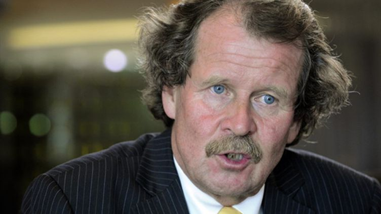 Manfred Nowak, lors d'une conférence de presse à Johannesburg, le 29/10/2009 (AFP/Stéphane de Sakutin)