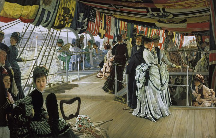 "James Tissot, ""Bal sur le pont"", vers 1874, Tate, Londres, don de The Trustees of the Chankey Bequest, 1937.  (Tate 2017. Photo : David Lambert)"
