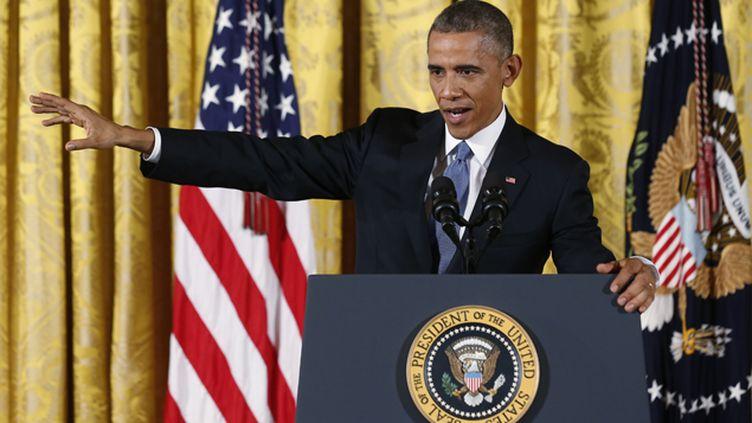 (Barack Obama mercredi à la Maison-Blanche © REUTERS/Larry Downing)