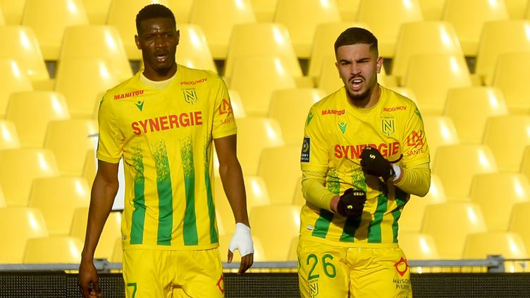 Kalifa Coulibaly et Imran Louza FC Nantes (JEAN-FRANCOIS MONIER / AFP)
