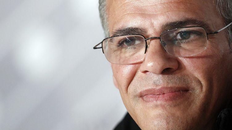 """Le réalisateur Abdellatif Kechiche, le 23 mai 2013, au festival de Cannes, lors de la conférence de presse de son film """"La vie d'Adèle"""". (MAXPPP)"""