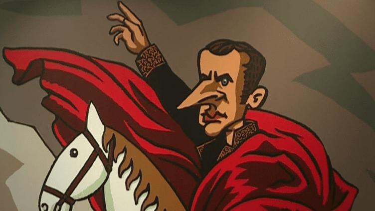 """Dessine-moi un Macron"""" : 77 dessinateurs de presse croquent le président en Suisse"""