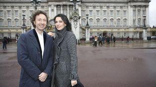 Stéphane Bern et Marie Drucker avaient déjà commenté en direct le mariage de Kate et Wiliam d'Angleterre (FTV - Charlotte Schousboe)