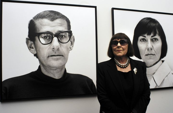 June Newton at the opening of the new permanent exhibition Helmut Newton at the Museum of Photography in Berlin on June 4, 2004. & nbsp;  (CARSTEN KOALL / GETTY IMAGES EUROPE)