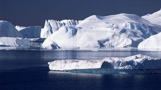 La banquise du Fjord Kangia, àSermermiut (Groenland), le 3 octobre 2015. (TONY WALTHAM / ROBERT HARDING HERITAGE / AFP)