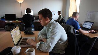 Un espace de coworking à Cambirdge (Massachussetts). (BOSTON GLOBE)
