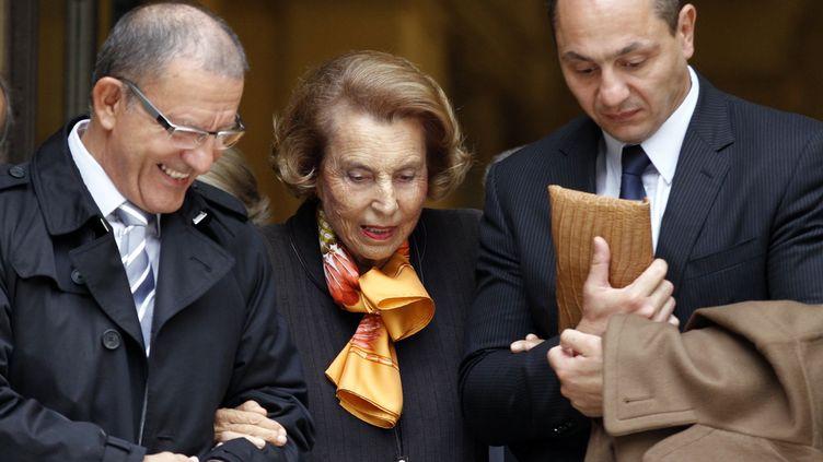 L'ancienne patronne de L'Oréal, Liliane Bettencourt, le 12 octobre 2011 à Paris. (FRANCOIS GUILLOT / AFP)