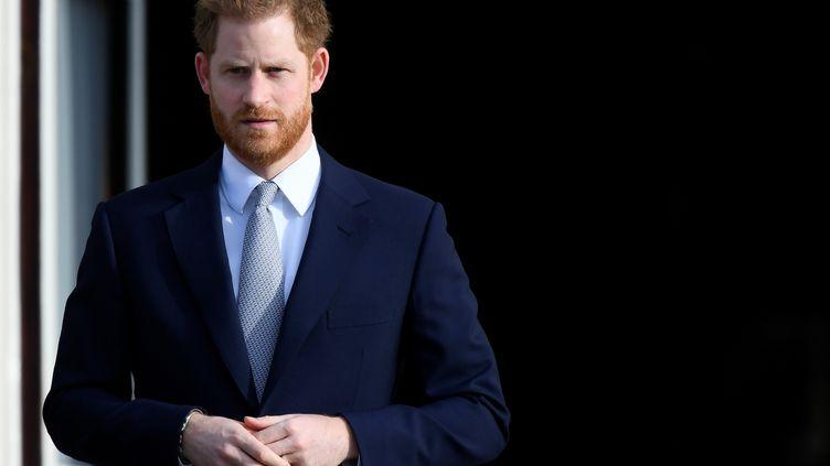 Le prince Harry à Buckingham Palace à Londres, le 16 janvier 2020. (TOBY MELVILLE / REUTERS)