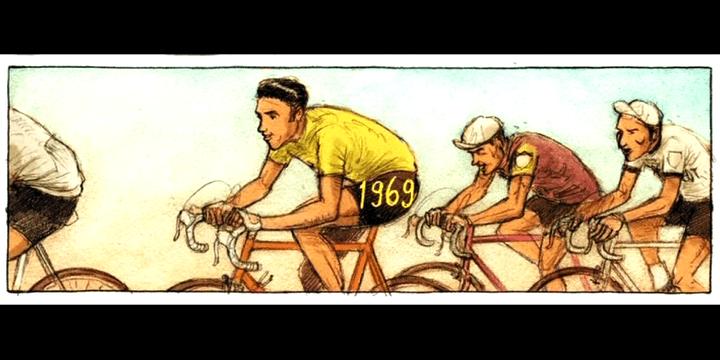 """""""Le Tour de France"""" vu par Jan Cleijne  (France3/culturebox/capture d'écran)"""