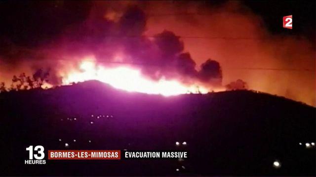 Bormes-les-Mimosas : l'incendie conduit à une évacuation massive