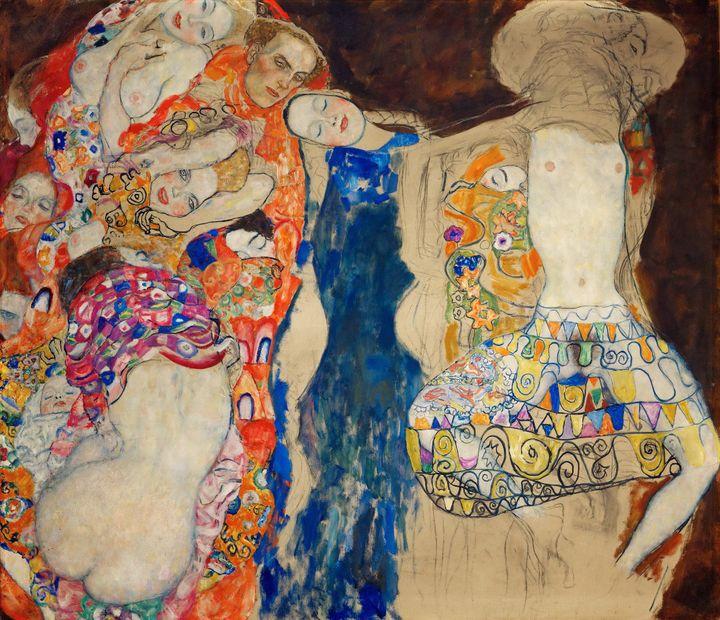 """La Mariée"" de Klimt (1918)  (LEEMAGE / AFP)"