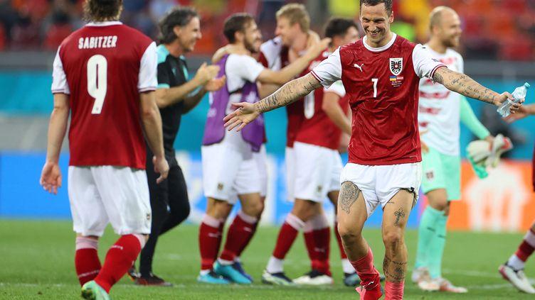 Grâce à sa victoire contre l'Ukraine, l'Autriche se qualifie pour les huitièmes de finale. (MARKO DJURICA / POOL)