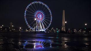 La grande roue Marcel Campion sur la place de la Concorde, à Paris, en janvier 2017. (LIONEL BONAVENTURE / AFP)