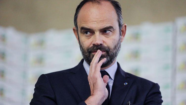 """Le Premier ministre, Édouard Philippe, condamne les violences des """"gilets jaunes"""" dans un tweet(photo d'illustration, 21 décembre 2018). (THOMAS SAMSON / AFP)"""