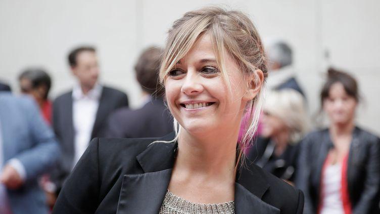 Flavie Flament fait sa rentrée à RTL, le 10 septembre 2013, à Paris. (MAXPPP)