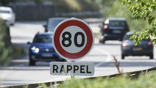 La limitation à 80 km/h est expérimentée sur une portion de la Nationale 7, entre Gervans et Tain-l'Hermitage (Drôme). (PHILIPPE DESMAZES / AFP)
