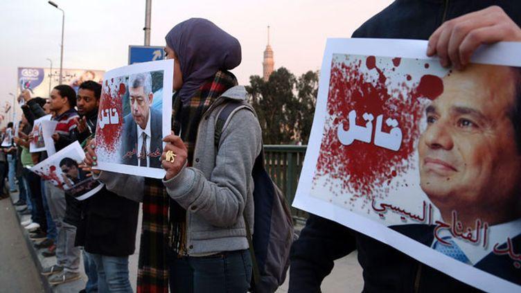(Manifestation au Caire après la mort de la socialiste Chaimaa Sabbagh © REUTERS   Asmaa Waguih)