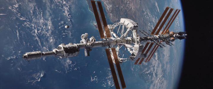 """Le vaisseau spatial Hermes, dans le film """"Seul sur Mars"""". (20TH CENTURY FOX)"""