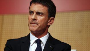 Manuel Valls lors d'une conférence à Sciences Po Paris, le 3 novembre 2015. (THOMAS SAMSON / AFP)