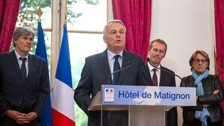 Jean-Marc Ayrault à Matignon, à Paris, le 16 octobre 2013. (MARTIN BUREAU / AFP)