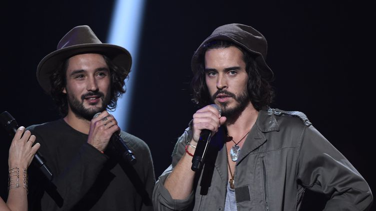 Fréro Delavega aux Victoires de la musique 2016  (BERTRAND GUAY / AFP)
