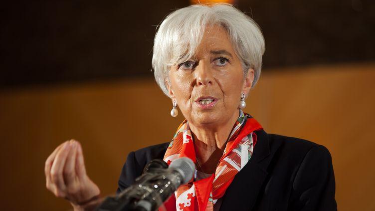 Christine Lagarde, la directrice du Fonds monétaire international à Lagos (Nigéria) le 20 décembre 2011 (STEPHEN JAFFE / IMF / AFP)