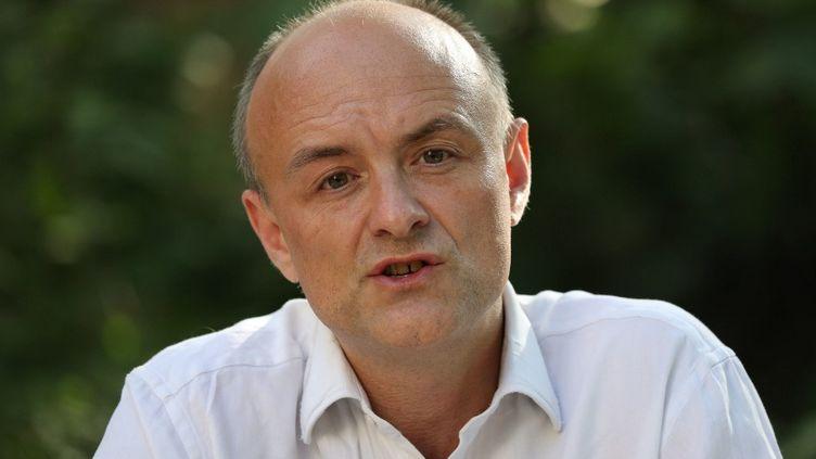 Dominic Cummings, conseiller du Premier ministre britannique, lors d'une conférence de presse, à Londres (Royaume-Uni), le 25 mai 2020. (JONATHAN BRADY / AFP)