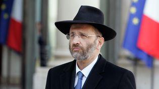 Le grand rabbin de France, Gilles Bernheim, le 21 mars 2012 àParis. (FRANCK PREVEL / GETTY IMAGES)