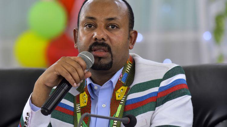Le Premier ministre éthiopien Abiy Ahmed, le 15 septembre 2019 à Bonga. (MICHAEL TEWELDE / AFP)