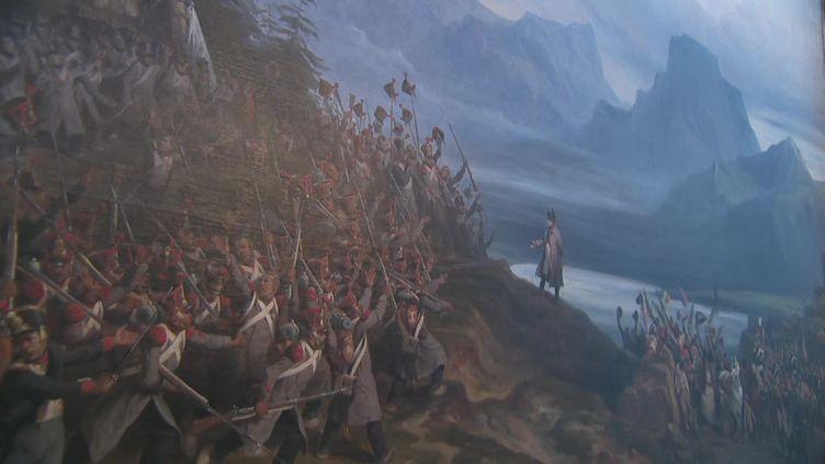 Napoléon face aux troupes royales, le 7 mars 1915 aux portes de Grenoble. (CAPTURE D'ÉCRAN FRANCE 3 / C. DITTE)