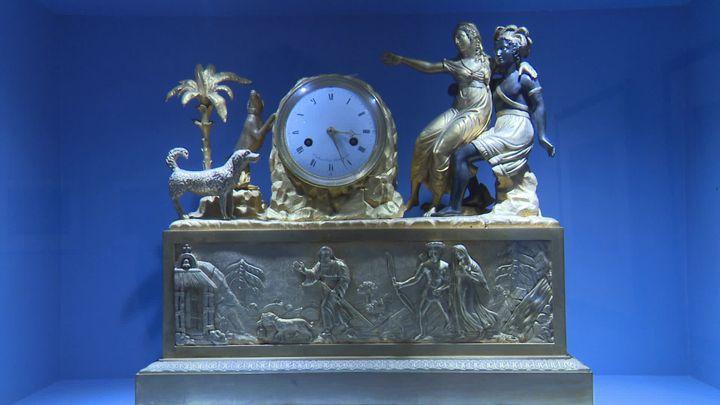 Horlogedu XVIIIe siècle inspirée par la chute de l'empire inca. Musée du Nouveau Monde. (France 3 Poitou-Charentes / J. Bouchon)
