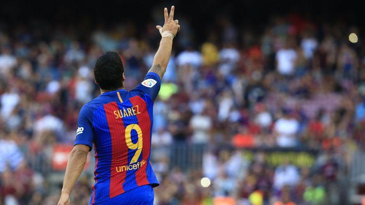 L'attaquant uruguayen de Barcelone Luis Suarez  (PAU BARRENA / AFP)
