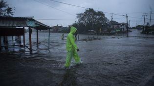 Au Mexique, l'ouragan Grace a provoqué des inondations dans l'Etat de Veracruz le 21 août 2021. (VICTORIA RAZO / AFP)