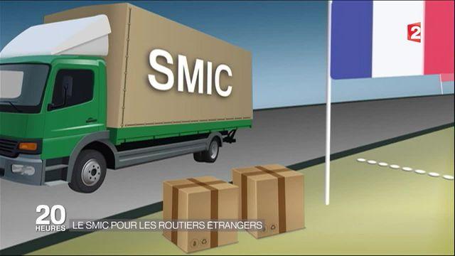 Transport routier : entrée en vigueur d'un SMIC pour les chauffeurs étrangers
