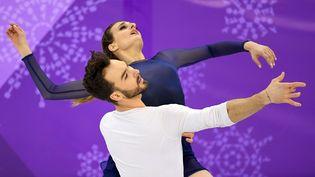 Les patineurs français Gabriella Papadakis et Guillaume Cizeron, le 20 février 2018 aux Jeux olympiques de Pyeongchang (Corée du Sud). (PHILIPPE MILLEREAU / DPPI MEDIA)