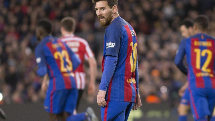 Le joueur du FC Barcelone, Lionel Messi (MIQUEL LLOP / NURPHOTO)