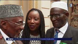 Les tirailleurs sénégalais ont été décorés par François Hollande. (FRANCE 3)