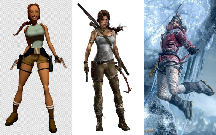 En près de 20 ans, l'image de Lara Croft est passée d'une bimbo aguicheuse à une survivante pleine de ressources. (WIKIMEDIA COMMONS / Youtube)