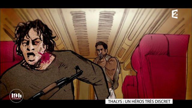 """""""19h le dimanche"""". Thalys : la balle dans le dos prise par Mark Moogalian a évité un massacre"""