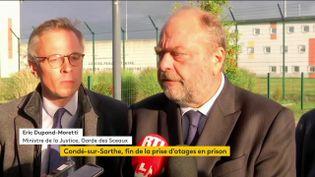 Le ministre de la Justice et le préfet de l'Orne se sont rendus sur place. (FRANCEINFO)
