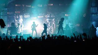 Concert du groupe Shaka Ponk au festival Le Printemps de Bourges, en 2018. (GUILLAUME SOUVANT / AFP)