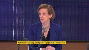 Anne-Claude Crémieux, infectiologue, était l'invitée de franceinfo le 17 mai 2021. (FRANCEINFO / RADIOFRANCE)