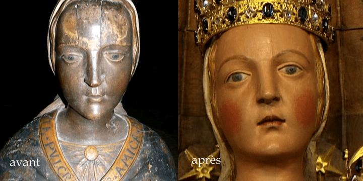 Staue de Vierge restaurée  (France 2 / Culturebox)