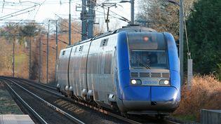Un TER circule sur une voie de chemin de fer (photo d'illustration). (MAXPPP)