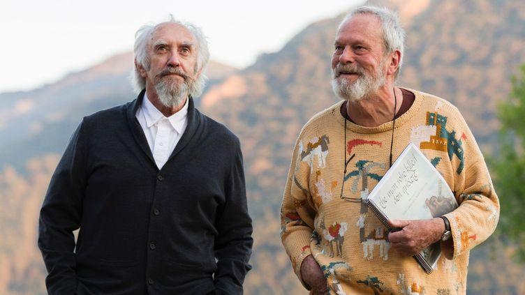 """Jonathan Pryce et Terry Gilliam sur le tournage de """"L'Homme qui tua Don Quichotte"""". (DIEGO LOPEZ CALVIN / OCEAN FILMS DISTRIBUTION)"""